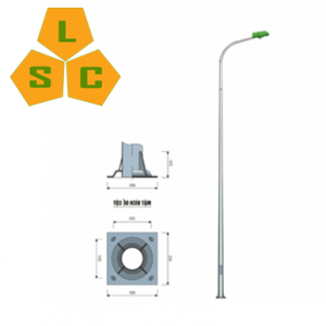 Cột đèn cao áp tròn côn liền cần đơn