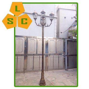 Cột đèn sân vườn DC02 sơn giả đồng