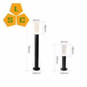 Đèn nấm led sân vườn SLC-N20-ban-ve