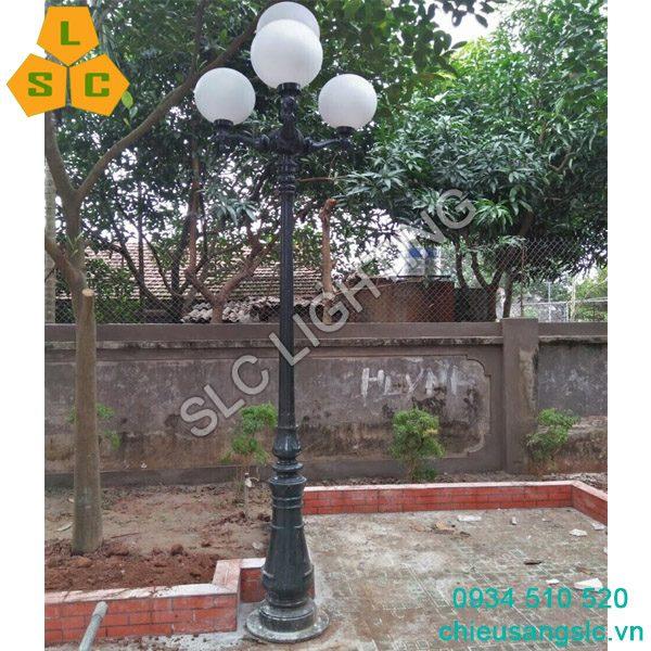 Cột đèn san vườn DC06 chùm ch06-4 đèn cầu d400