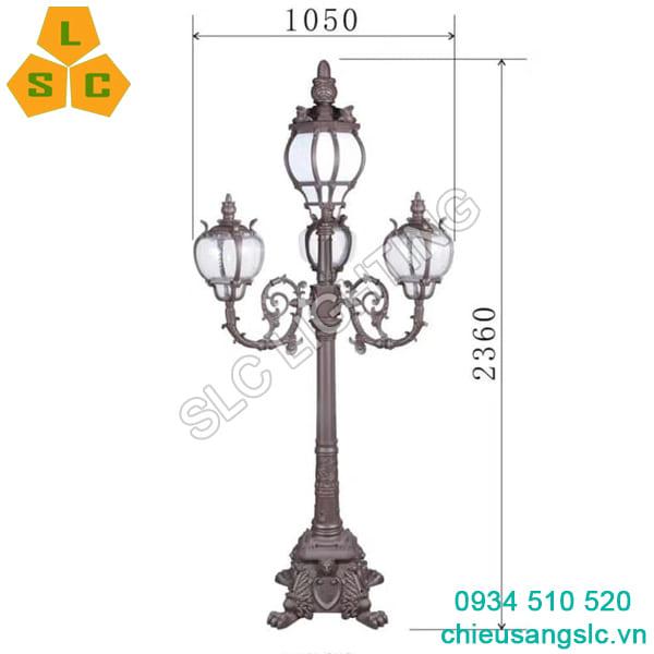 Cột đèn trang trí sân vườn biệt thự tân cổ điển