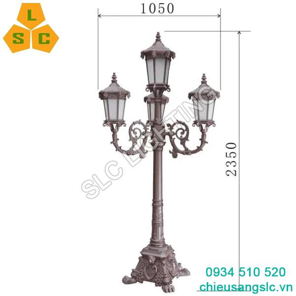 Cột đèn trang trí sân vườn biệt thự
